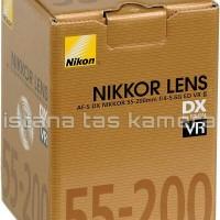NEW LENSA TELE ZOOM NIKON AF-S DX 55-200MM VR II f/ 4-5.6 G ED GARANSI