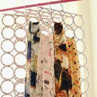 Hanger gantung syal, jilbab, dasi, scarf / RACK ORGANIZER 28 RING