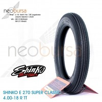 ban SHINKO E270 (U) 4.00-18 black (64H) Super Klasik / Kustom