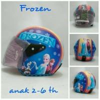 harga Helm Anak Retro Kaca Kulit Klasik Motif Frozen Biru Oranye Tokopedia.com