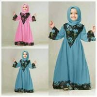 Ariza Kid Gamis / Baju Muslim Anak / Setelan Anak Perempuan