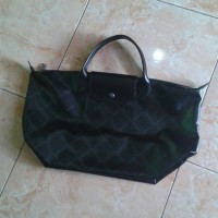 SALE tas wanita long champ original LSH metal black