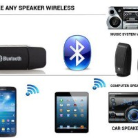 Usb Bluetooth 3.5mm Stereo Music Audio Receiver Adapter For Car Mp3 Sp