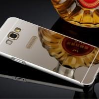 Samsung Galaxy E5/E7 Casing Alumunium Frame Mirror Back Cover Case