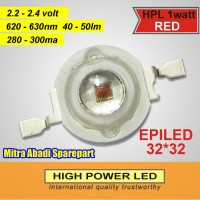 HPL 1W / High Power LED 1 Watt Red Epiled