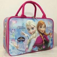 Jual Travel Bag / Tas Travel Anak Karakter Frozen bahan Spoon Murah