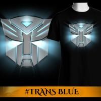 Tshirt/Baju/Kaos Pria 3D Film The Transformers Blue