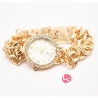 Jam Tangan Wanita LV Louis Vuitton Gold Permata
