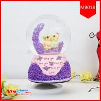 Snowball Music Box Bear Love | Music Box Couple Bear Murah