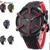 Jam tangan sport pria LED shark original dan bergaransi tali silicon