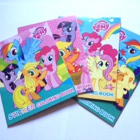 Paket Buku Mewarnai Mini + Sticker My Little Pony . mainan edukasi