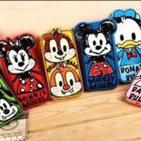 Disney KARTUN HAND DRAWING rubber case / CASING IPHONE 4/4s/5/5s