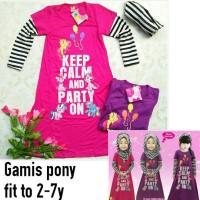 Gamis anak little pony keep calm little pineapple