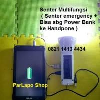 Senter Multifungsi (Senter Emergency+Bisa sbg Power Bank Ke Handphone)