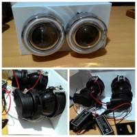 harga Foglamp Projector + Angel Eyes, model bulat Tokopedia.com