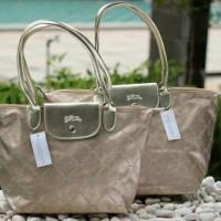Longchamp LM metal gold tote bag medium&large
