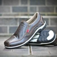Sepatu Kicker Playboy Brown Pria Santai Hangout Kuliah Santai