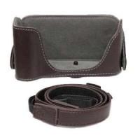 Canon Leather Half Case For Canon EOS 600D / 700D / 1200D - Cokelat