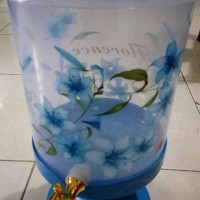 harga Dispenser Air Plastik/galon Air Plastik Motif Bunga + Kran Tokopedia.com
