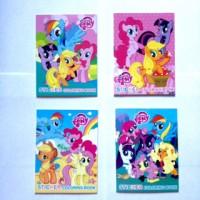 Buku Mewarnai Mini + Sticker My Little Pony hasbro Coloring Book Kecil