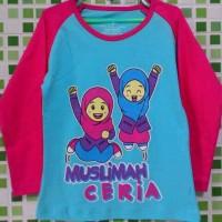 Kaos anak muslim 'muslimah ceria'