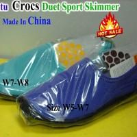 Sepatu Casual Sport Slip-On Crocs Duet Skimmer Made In China