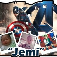 Jam Dinding Karakter Captain America