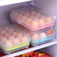 Kotak Telur Isi 15 Egg Plastic Wadah Telor Ayam di Kulkas Alat Simpan