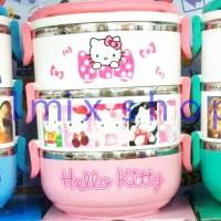 Jual Rantang 3 susun karakter lunch box hello kitty doraemon frozen Murah