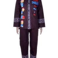 (3-4 THN)Setelan 3 In 1 Baju Koko Anak Motif Lengan Panjang BML.014-CT