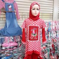 gamis/muslim anak setelan celana wafer onde 9-10-11-12