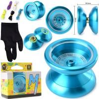 Th050. Magic Yoyo K5 Yoyo Ball, Alumunium - Biru
