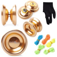 Th005. Magic Yoyo T8 Shadow Yoyo Ball Clutch Alloy, Alumunium Gold