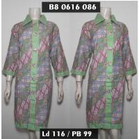 Dress Batik Wanita Jumbo XXL / Tunik Batik Big Size 3L Hijau B80616086
