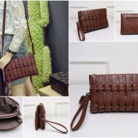 Jual Tas selempang wanita import mini bag 21405 Brown Murah