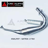 harga Knalpot Racing Satria (2 tak)  bahan Galvanis Chrome Tokopedia.com