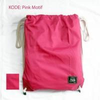 Harga pink tas serut string bag drawstring bag tas | WIKIPRICE INDONESIA