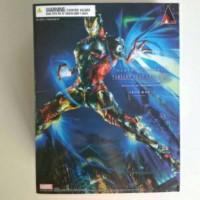 "Play Arts KAI Iron Man Marvel Universe Square Enix 10"" KW MISB"