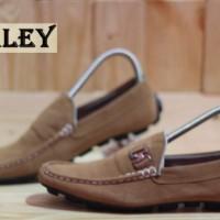 Sepatu hurley mocassin casual slip on suede gaya fashion kerja #6