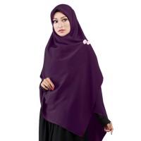 Jilbab Segi Empat Premium Ruman Hijab Premium Ungu Tua Syar'i