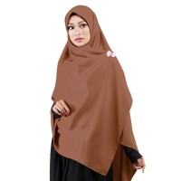 Jilbab Segi Empat Premium Ruman Hijab Premium Syar'i Karamel