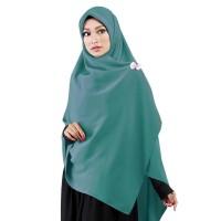 Jilbab Segi Empat Premium Ruman Hijab Premium Hijau Toska Syar'i