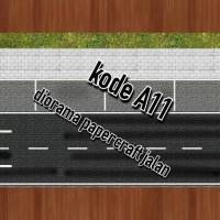 diorama papercraft jalan raya kode A11 skala 1/64