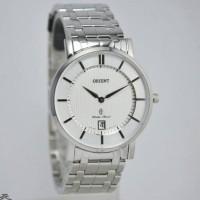 Jam tangan pria ukuran kecil orient FGW01006W original garansi 2 tahun