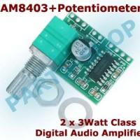 PAM8403 Modul Mini Digital Audio Power Amplifier board Stereo 2x3W 5V