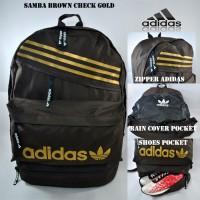 harga Tas ransel adidas samba brown check gold free rain cover Tokopedia.com