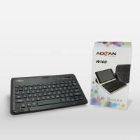 Advan Leather Case Keyboard Vanbook W100 - Hitam WIRELESS CONNEC
