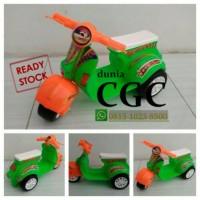 Mainan Motor Vespa Mini Anak Dorong Sarimin Klasik Roda Tiga 3 Promo