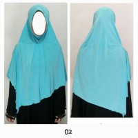 Jilbab instan hijab bergo pet lunak bahan jersey super/ inner khimar