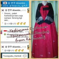 Hanbok Khas korea import *Jeogori Hitam chima merah